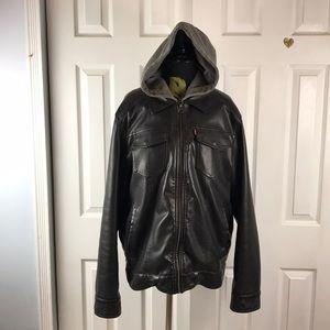Levi's classic hooded Sherpa trucker jacket Sz L